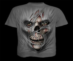 Brand-New-MenS-Horror-Rips-Skulls-Charcoal-Tee-Shirt