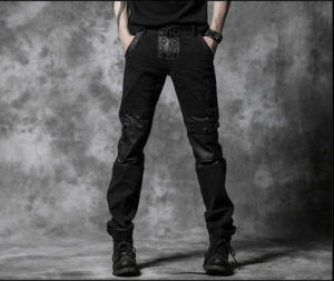 Mens-Black-Gothic-Pants