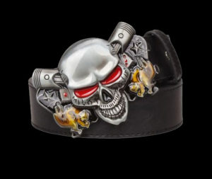 Steampunk-Mens-Belt-With-Red-Eye-Skull-Buckle