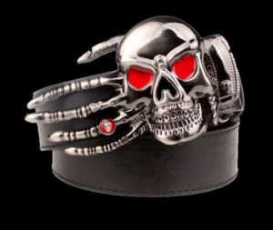 Steampunk-Mens-Belt-With-Scary-Skull-Hand-Buckle-Serie-1